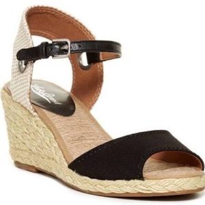 Lucky Brand Black Kyndra Cork Espadrille Wedges-7